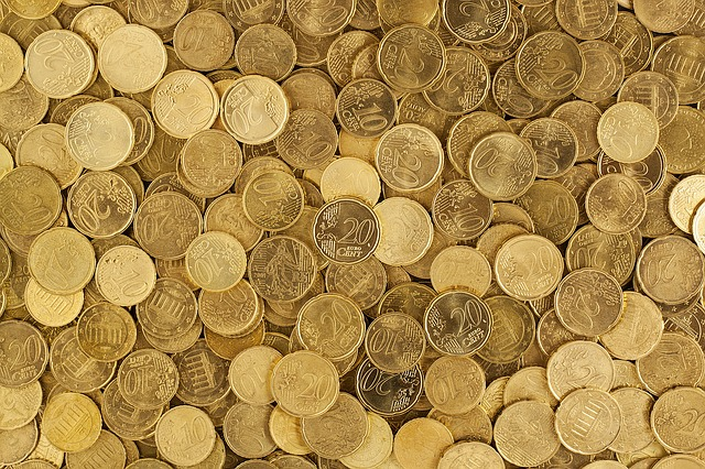 mnoho mincí Evropské unie