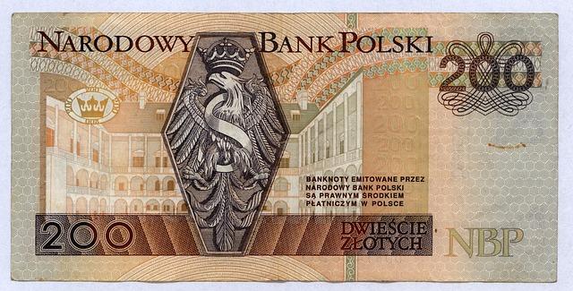 polská bankovka – 200 zlotych